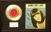 "SANDIE SHAW- 7""Platinum Disc& songsheet -LONG LIVE LOVE"